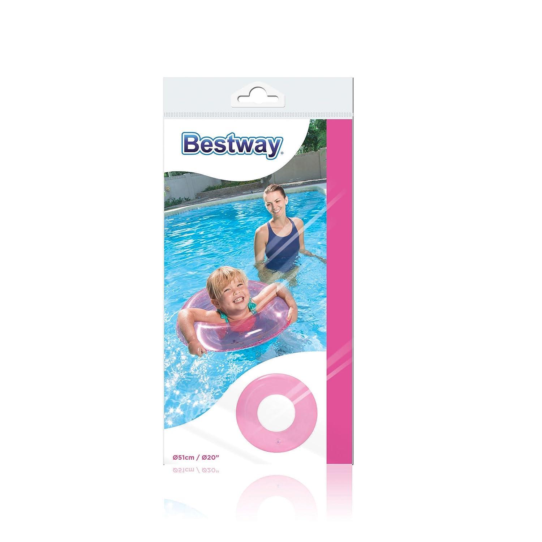 Bestway 36022 flotador para bebé Vinilo Azul, Verde, Rosa - Flotadores para bebé (Flotador, Monótono, Vinilo, Azul, Verde, Rosa, 3 año(s), ...