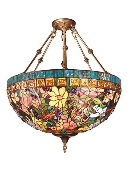 Dale Tiffany TH60096 Tiffany Hanging Light Fixture, Antique Brass ...