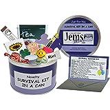 Cumpleaños Kit de supervivencia en una lata. Humor novedad divertido regalo para decir feliz cumpleaños presente y tarjeta todo en uno. Amigo, hermana, hermano, mamá, papá, sobrina, sobrino, tía, tío, Primo, Nan, abuelo. Puedes personalizar su puede color., Purple/Lilac, Approx 10cm x 6cm