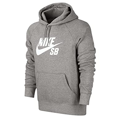 c703a3938b27 Image Unavailable. Image not available for. Colour: Nike SB Icon Crackle Pullover  Hoodie Men's Skate Boarding Hooded Top Grey ...