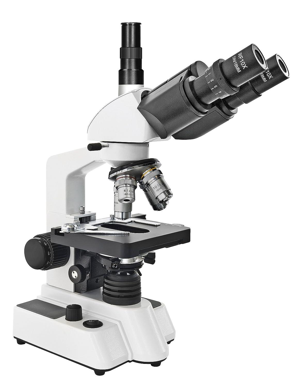 Bresser Durchlicht Mikroskop Researcher Trino 40x-1000x Vergrößerung für für für gehobene Ansprüche, LED Beleuchtung und drehbarer trinokularer Auszug, koaxialer Kreuztisch sowie Grob- und Feinfokussierung B07PKTY3RK | Leicht zu reinigende Ob 28de4a
