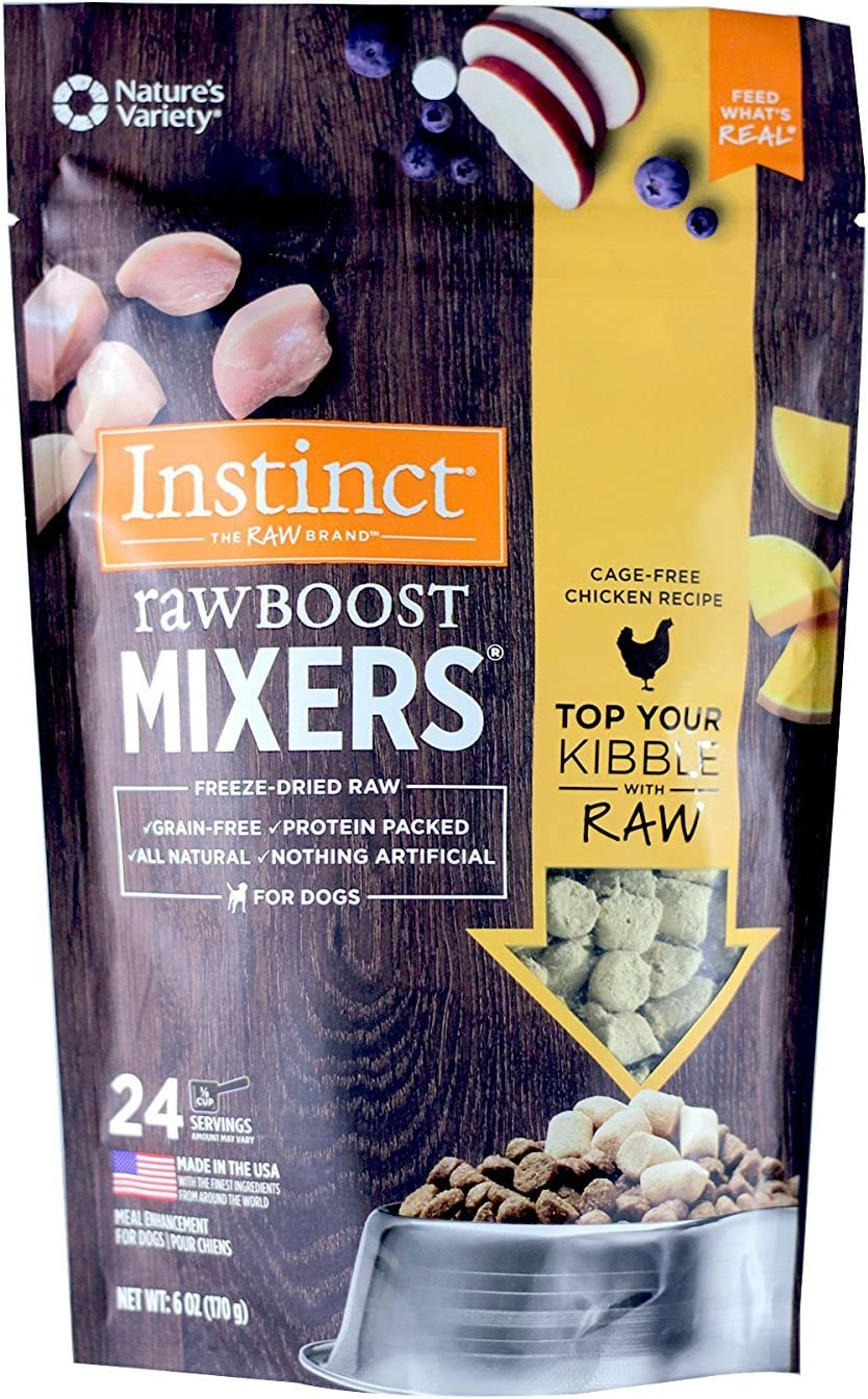 Nature'S Variety Instinct Raw Boost Freeze Dried Mixers Grain Free Dog Meal Topper - Chicken - 6 Oz