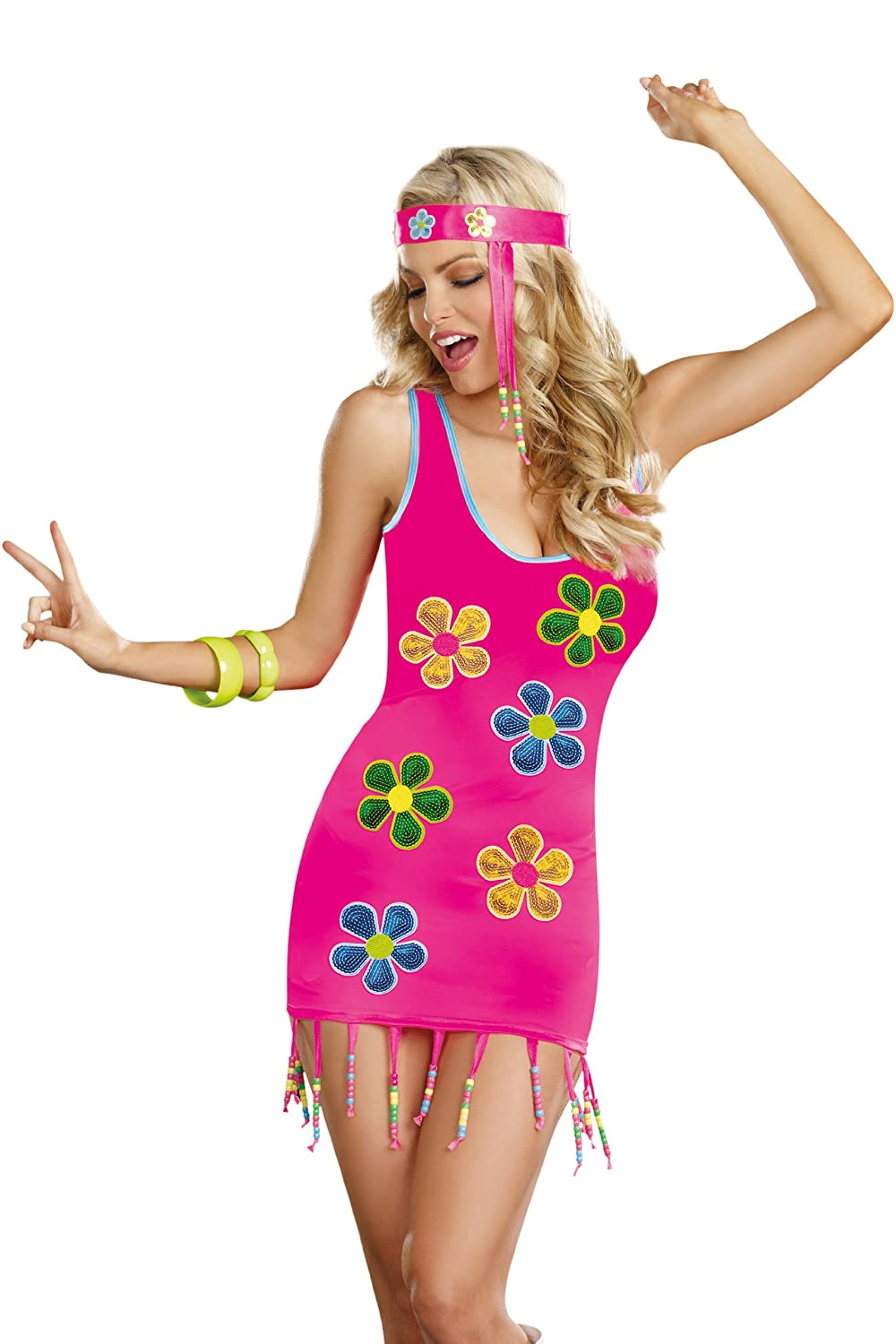 Vintage Inspired Halloween Costumes Dreamgirl Womens Groovy Baby Costume $24.43 AT vintagedancer.com