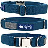 Petfino Premium Natural Hemp Dog Collar with Metal Buckle for Small Medium Large Dogs with Extra Soft Fleece Liner Padded Fleece-Lined (Matching Hemp Leash Not Included)