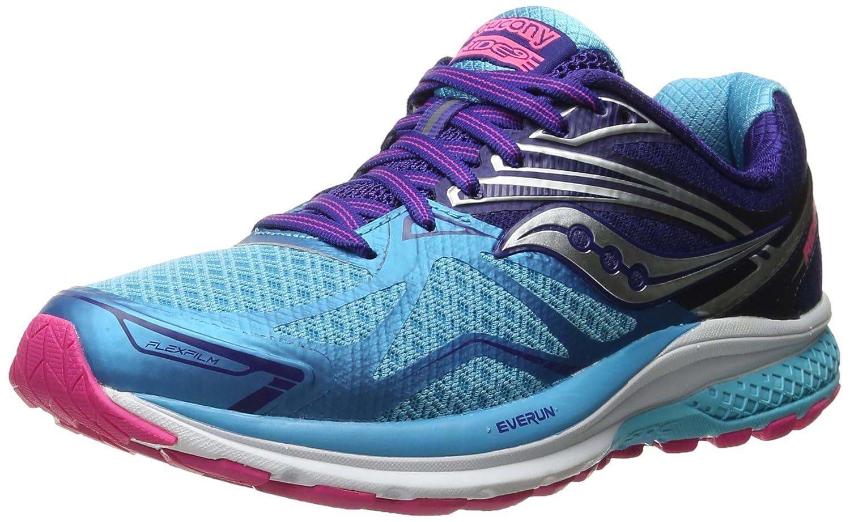 Saucony Women's Ride 9 Running Shoe B018EZPAR0 6 W US|Navy/Blue/Pink