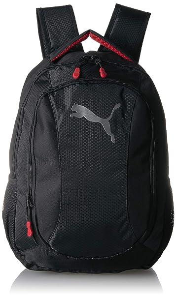 666269d8e PUMA Men's Equivalence Backpack, black/Red One Size: Amazon.com.mx ...