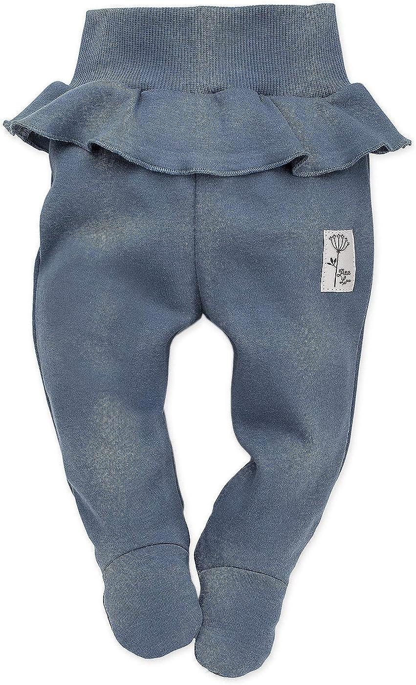Rosa Blau 100/% Baumwolle Schlafhose mit F/ü/ßen elastischer Bund Baby Hose//Strampler Hose Neugeborene Petit Lou Pinokio