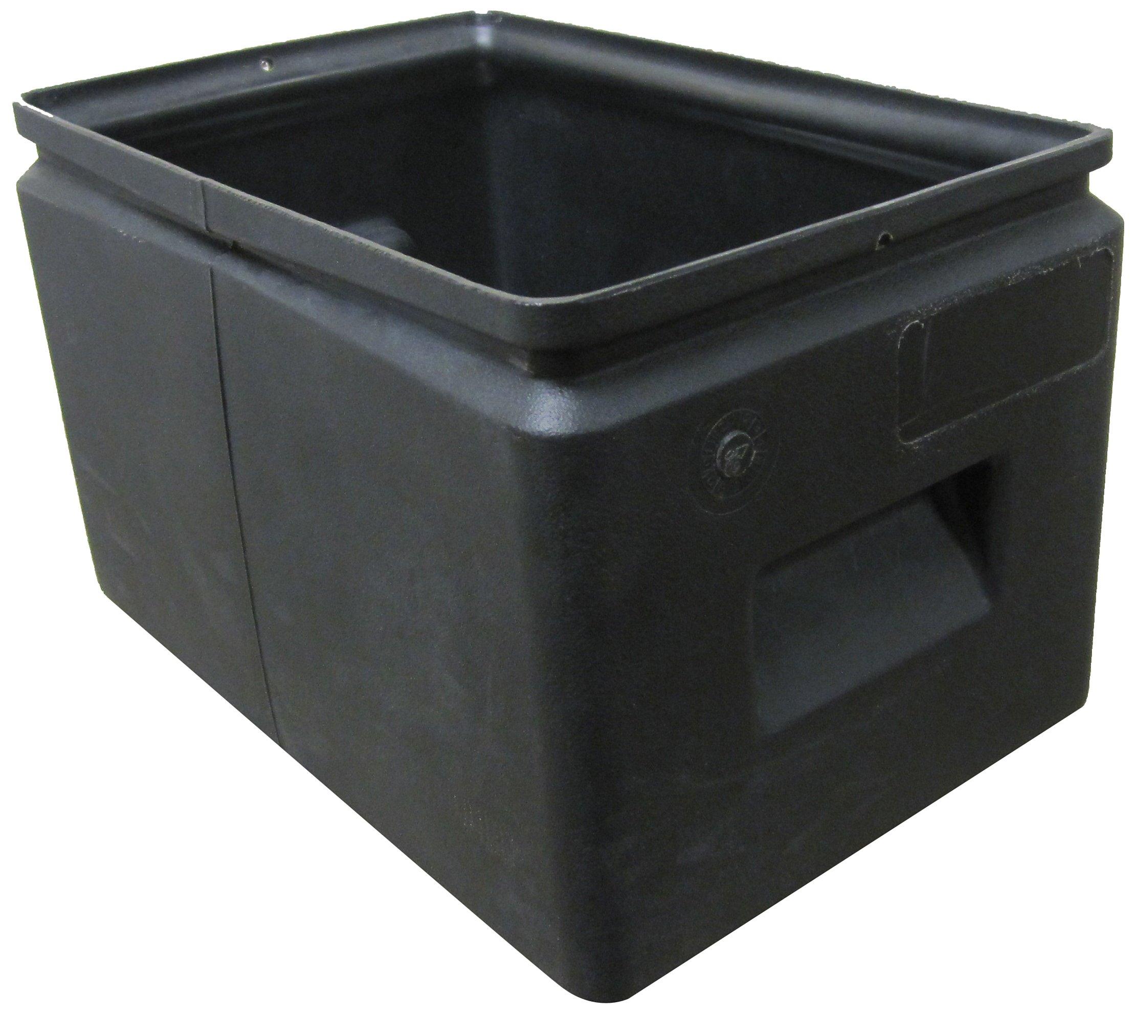 Forte Products 8001257 All Purpose Plastic Storage Bin, 14.5'' L x 9.5'' W x 9'' H, Black (Case of 12)