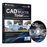 CAD SUITE Total 2D/3D - Professional CAD Software Suite - 4 Advanced Programs (PC & Mac) - BOXED AS SHOWN
