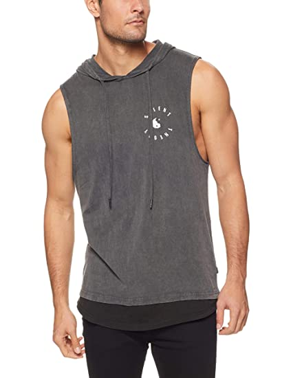 8e1d36bf6 Silent Theory Men's MURLEY Hooded Muscle, Charcoal: Amazon.com.au ...