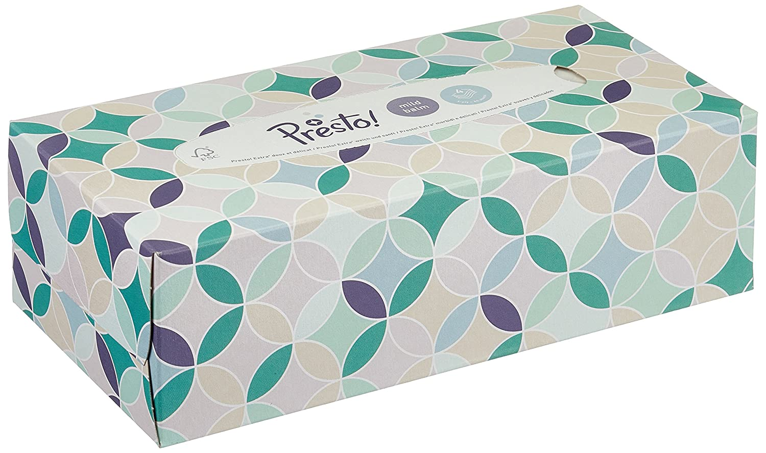 Presto 4-Ply Facial Tissues with Mild Balm Brand 12 Pack 12 x 80 Tissues