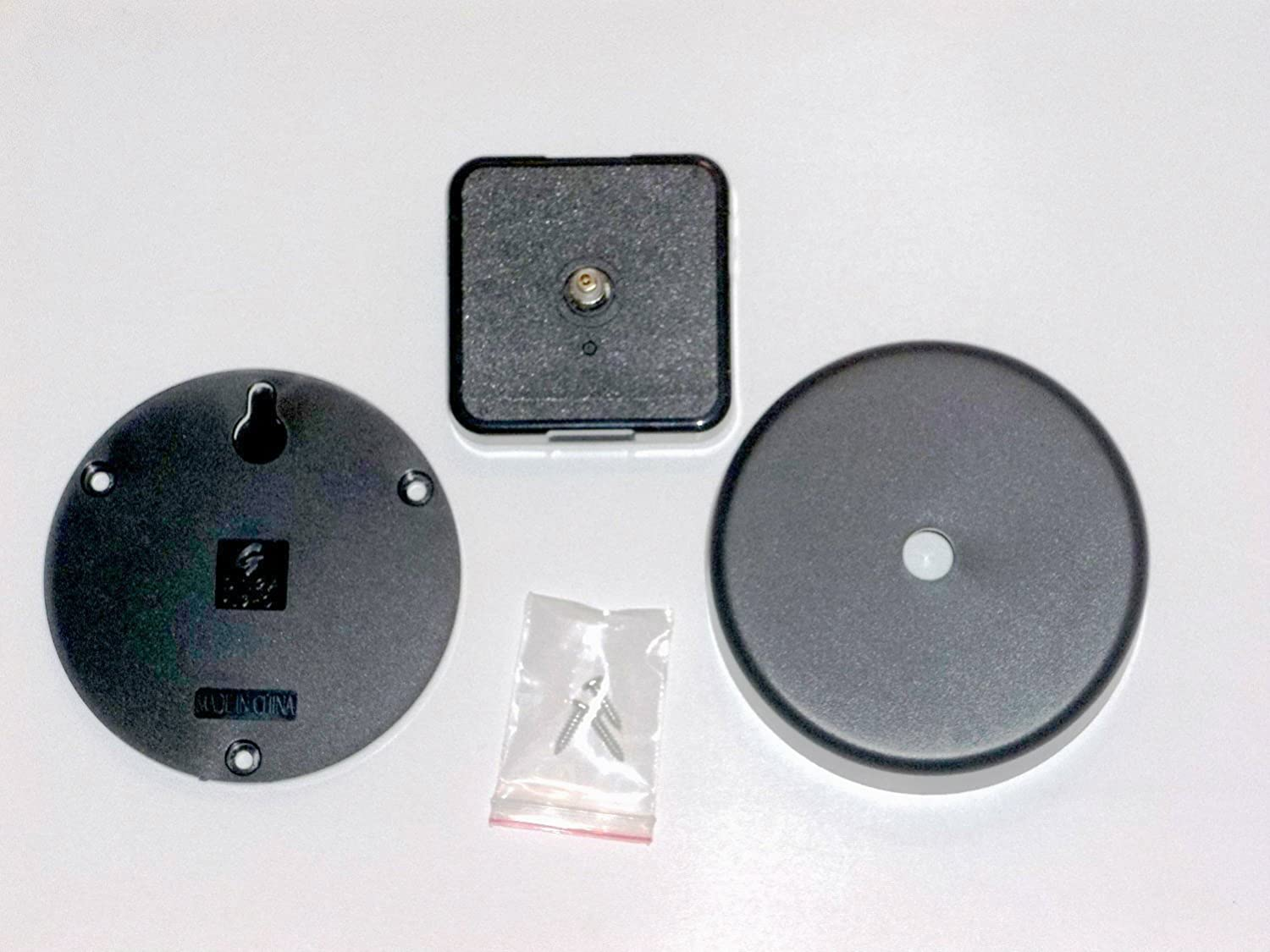 High Torque Clock Movement Silent Sweep No4 Balanced Hands and Wall Mount Extended Shaft w//8-1//4 in.