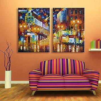 LED Dekorativ Bild Der Lampe Fiber Zeichnung Das Schlafzimmer Wohnzimmer  Esszimmer 2 Tafeln
