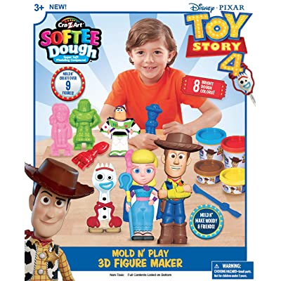 Cra-Z-Art Disney Toy Story 4 Softee Dough 3D Mold N Play Figure Maker: Toys & Games