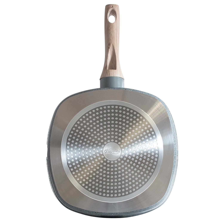 San Ignacio Q1899 - Grill, 28 x 28 cm, aluminio forjado, color granito