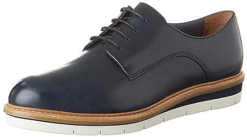 Tamaris 23202, Oxford Chaussures À Lacets Pour Les Femmes, Bleu (cuir Bleu Marine), 39 Eu