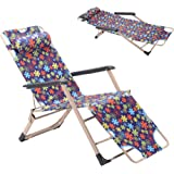 GOJOOASIS Folding Chaise Lounge Chair Recliner Bed & Cot for a Nap or Outdoor Use