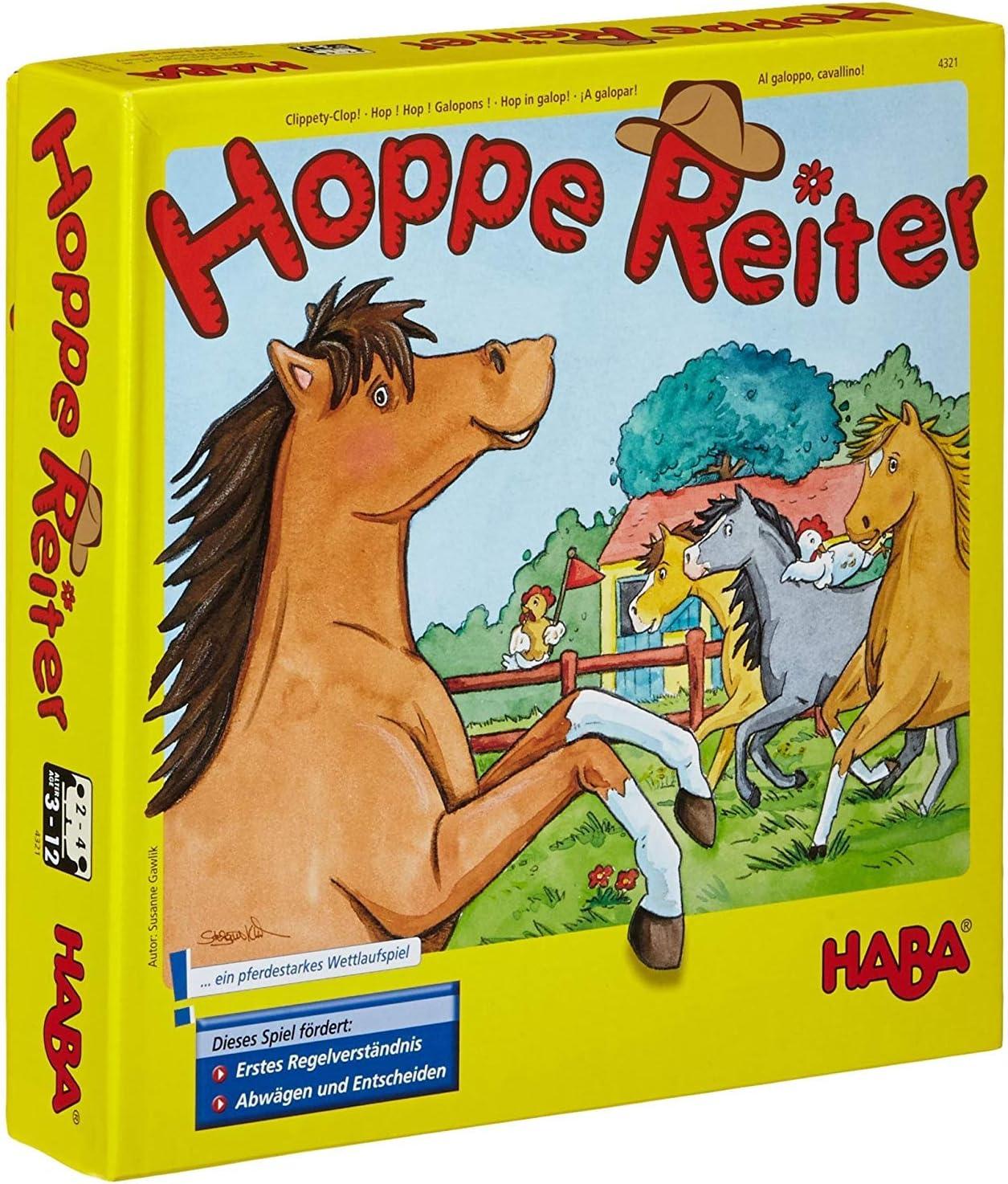 Haba 4321 Hoppe Reiter - Juego infantil sobre caballos (en alemán) , color/modelo surtido
