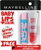 Maybelline New York Baby Lips, Winter Flush, 4.4g and Baby Lips