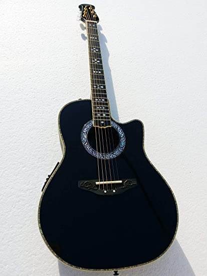 Musoo - Guitarra semiacústica redonda de 106,68 cm: Amazon.es ...