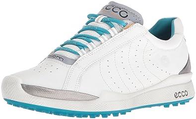 e76168c619f ECCO Women's Biom Hybrid Hydromax II Golf Shoe, White/Capri Breeze, 38 EU