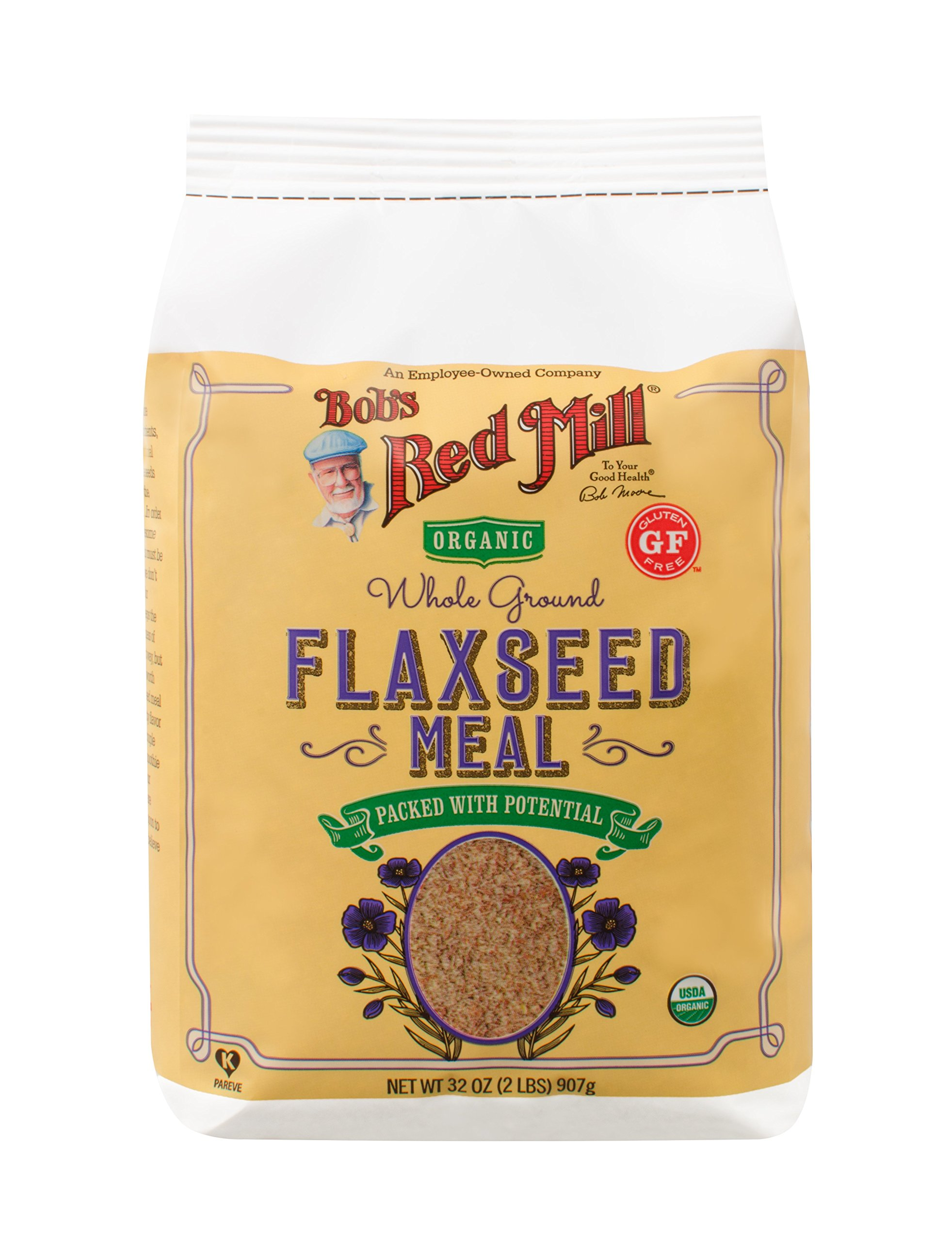 Bob's Red Mill Organic Brown Flaxseed Meal, 32 Ounce (Pack of 4) (Package May Vary) by Bob's Red Mill (Image #4)