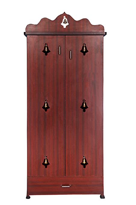 Generic Hudson's Pooja Cabinet In Rosewood Color: Amazon.in: Home ...