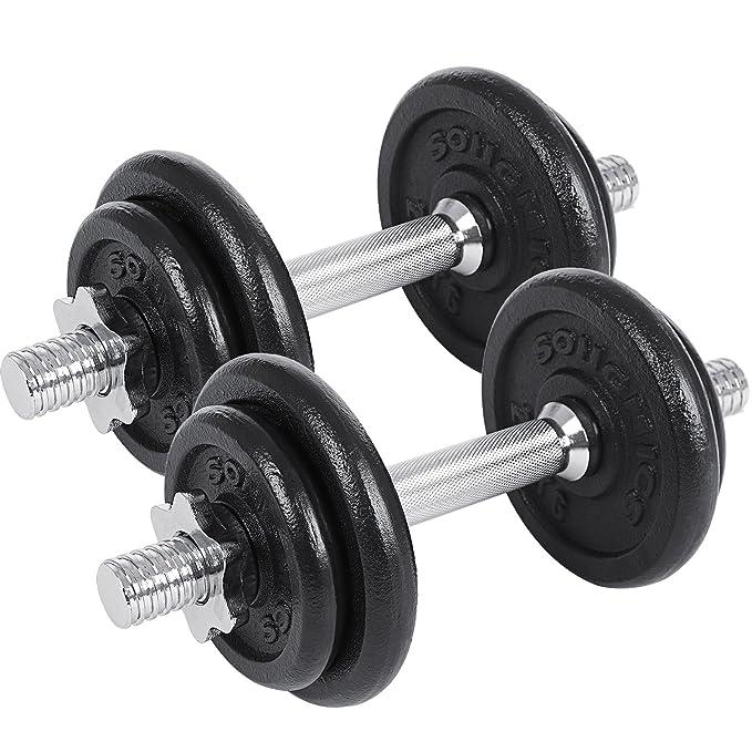SONGMICS Juego de 2 Mancuernas de Fitness, Pesas para Hombre ...