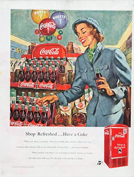 Coca Cola Woman Supermarket 1948 1949