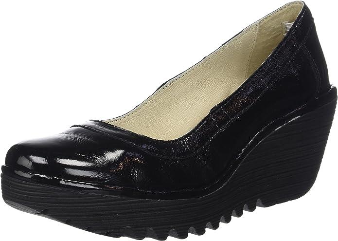 Fly London Yano838fly, Zapatos de tacón con Punta Cerrada para Mujer, Negro (Black), 38 EU