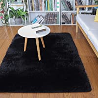 Soft Modern Indoor Shaggy Area Rug for Bedroom Livingroom Dorm Kids Room Home Decorative, Non-Slip Plush Fluffy Furry…