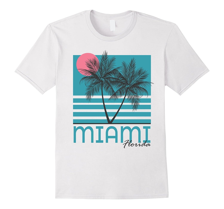 Miami Beach Florida T Shirt Palm Trees Souvenirs-alottee gift