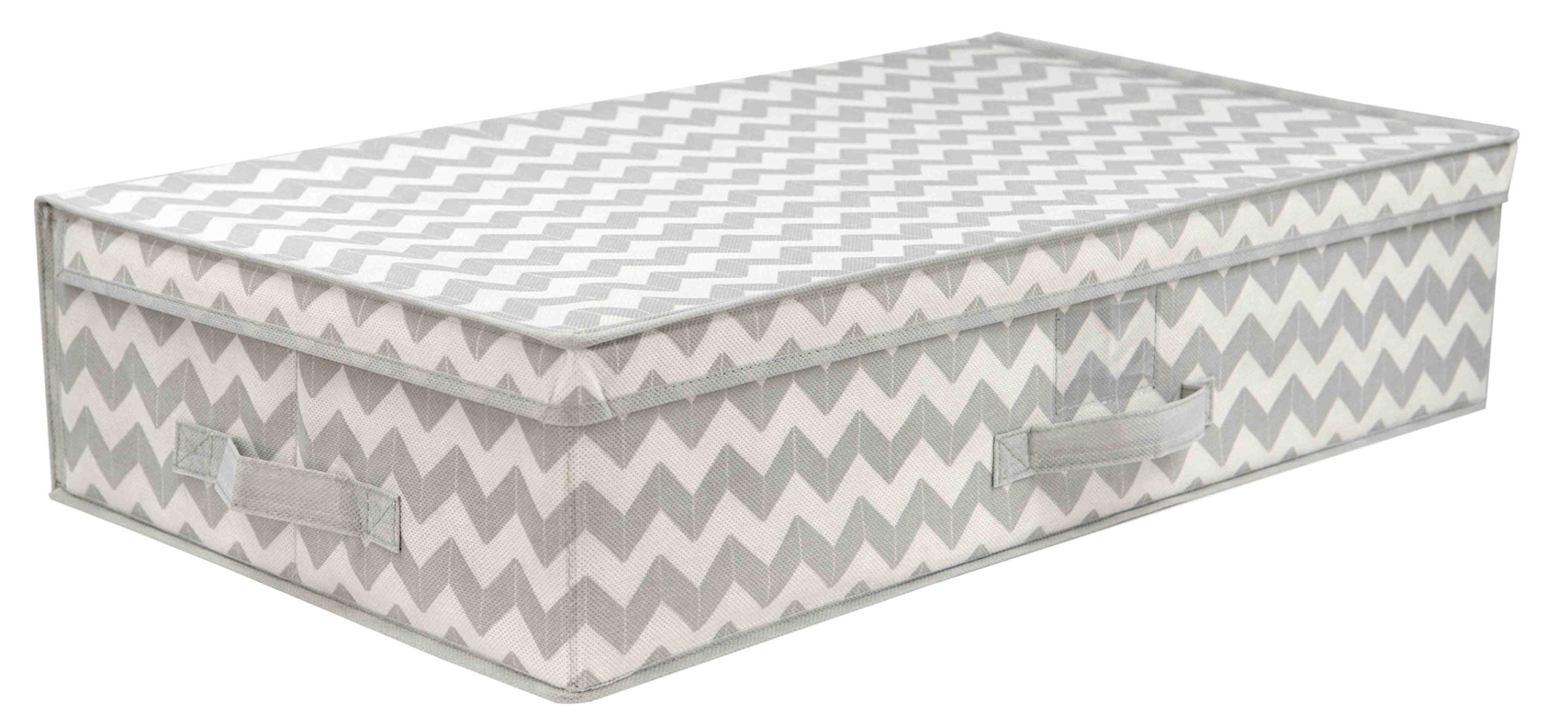Home Basics Chevron Collection Storage and Organization (Under The Bed)