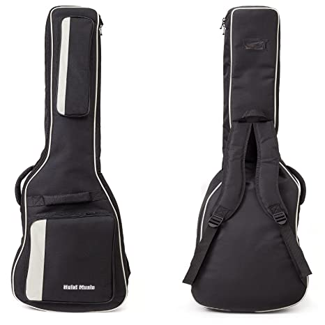 b82a2c03fd Amazon.com: Electric Guitar Gig Bag by Hola! Music, Deluxe Series with 15mm  Padding, Black: Musical Instruments