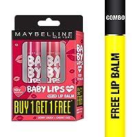 Maybelline New York Baby lips, 4g (Buy 1 Get 1 Free, Berry Crush + Pink Lolita)