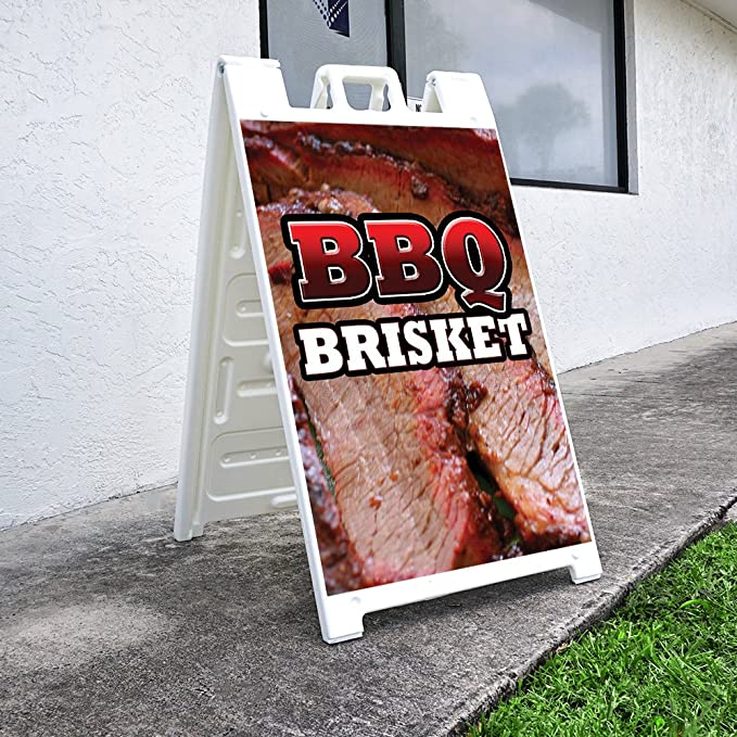 Amazon.com: A-Frame BBQ Brisket Sign with Graphics On Each Side | 24