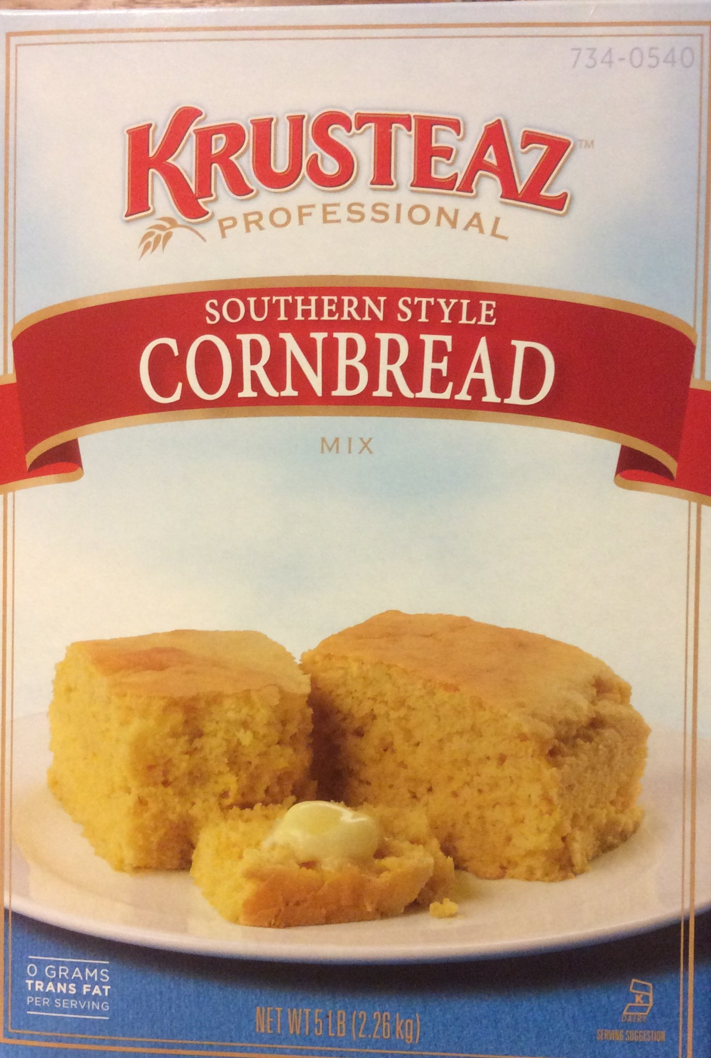Krusteaz Old Fashioned SOUTHERN STYLE CORNBREAD Mix 5lbs. Restaurant Quality