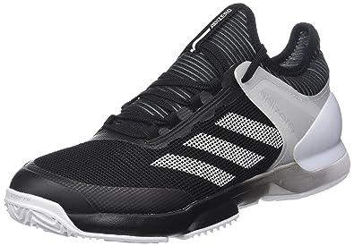 best service 65c86 3d4c1 adidas Mens Adizero Ubersonic 2 Clay Tennis Shoes, Black (NegbasFtwbla  000)
