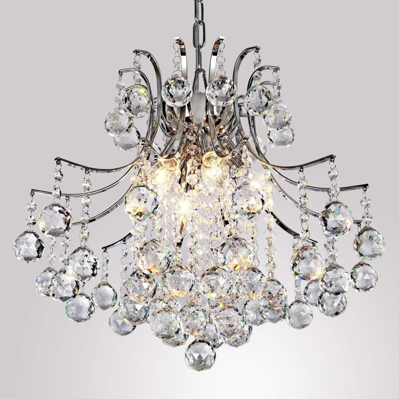 40W Lightess L/ámpara de Techo L/ámpara Colgante L/ámpara Cristal Europeo Estilo Elegante L/ámpara con 6*E14 Luces Hal/ógeno