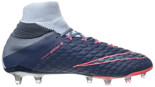 Nike Hypervenom Phantom III Dynamic Fit (FG), Zapatillas de Fútbol para Hombre, Azul Navy/Black-Light Blue-Armory, 43 EU: Amazon.es: Zapatos y complementos