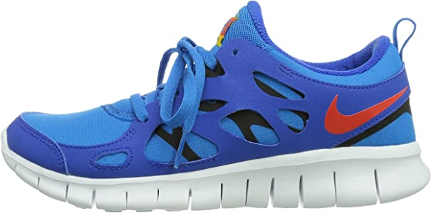 NIKE - Zapatillas de running Free Run 2 , Niños , Azul (Hyper Cobalt/Tm Orange-Photo Blue-Black), Azul (Hyper Cobalt/Tm Orange-Photo Blue-Black), 37.5: Amazon.es: Zapatos y complementos