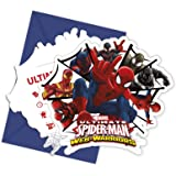 Unique Party Web Warriors Ultimate Spider-Man invitations, Lot de 6