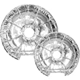 Electric Stove Burner Covers (50 Pack) – Electric Stove Bib Liners - Disposable Aluminum Foil 6 Inch and 8 Inch Round Burner