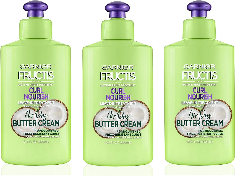 Garnier Hair Care Fructis Triple Nutrition Curl Moisture Leave-in Conditioner, 10.2 Fluid Ounce