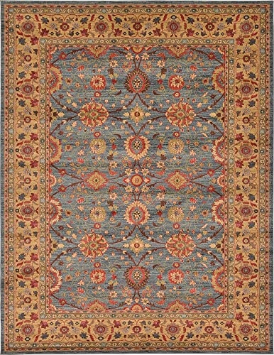 Unique Loom Edinburgh Collection Oriental Traditional French Country Blue Area Rug 9' 0 x 12' 0