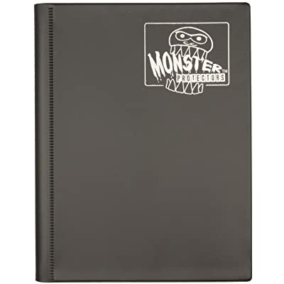 Monster Binder - 4 Pocket Matte Black Album - Holds 160 Yugioh, Magic, and Pokemon Cards: Toys & Games