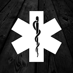Star of Life RN Rod of Asclepius Animals Car Decals,Vinyl Window Stickers for Door Bottle Laptop Cars Wall Art