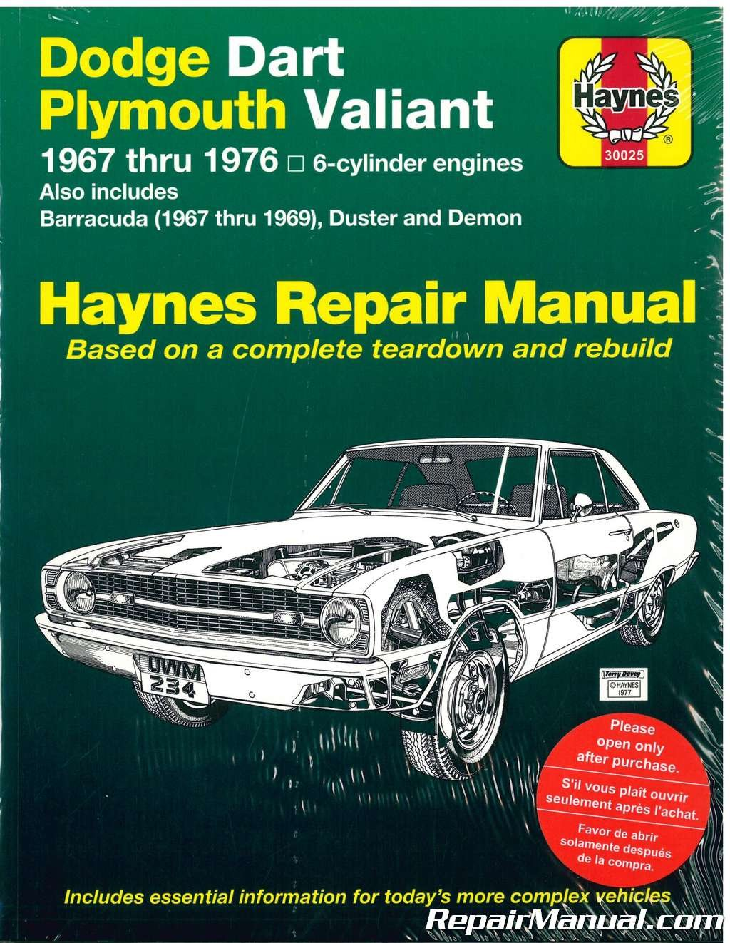 Online Car Wiring Diagrams 1967 Dart Expert Schematics Diagram 1969 Barracuda H30025 Haynes Dodge Plymouth Demon Valiant Duster Nhra