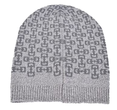 8957822c4f50f Amazon.com  Gucci Men s 369627 Light Grey Wool Horsebit Logo Slouchy ...