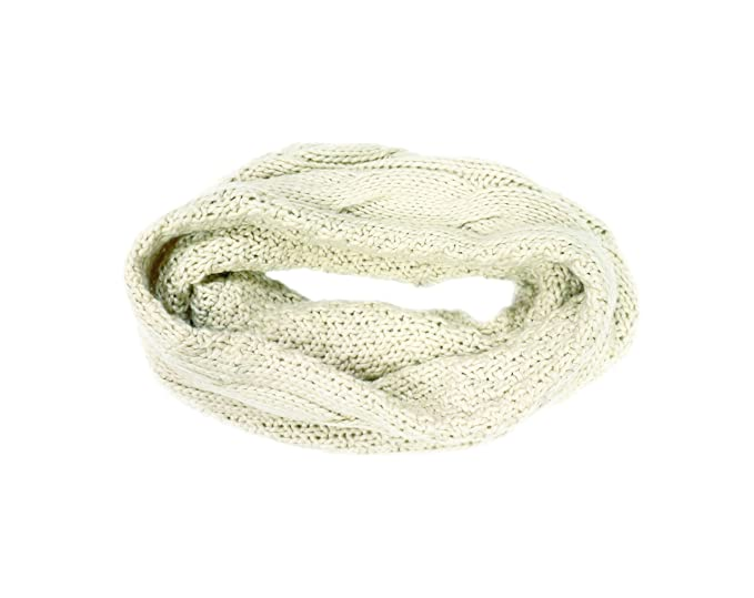 Man Of Aran Cable Knitted Design Snood Oatmeal Colour At Amazon